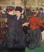 Two Women Dancing at the Moulin Rouge Henri de toulouse-lautrec
